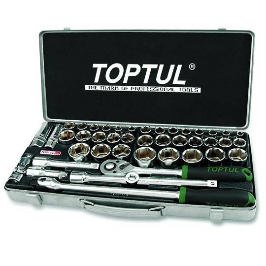 "TopTul Socket Set 1/2""Dr 43pc Metric / Imperial"