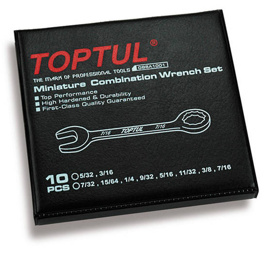 TopTul 10pc Ignition Wrench Set Imperial