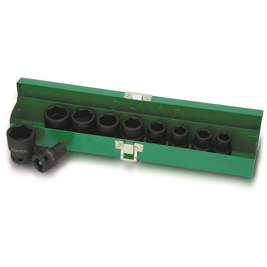 "TopTul 10pc Socket Set Impact 1/2""Dr"