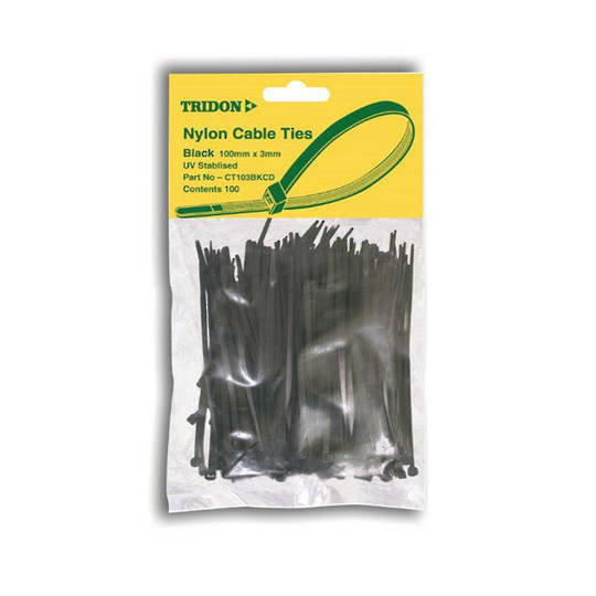 Tridon Cable Ties 5mmx250mm Black 500 pack
