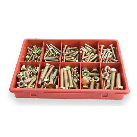 Assorted Bolt & Nut Hi-Tensile 290pc
