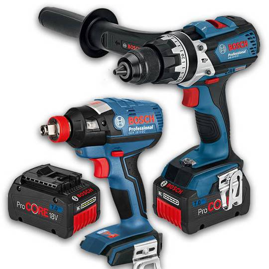 Bosch 18V 7Ah Drill & Impact Driver/Wrench Combo