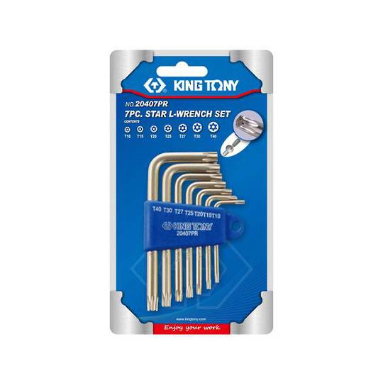 King Tony 7pc Torx Wrench Set Tamper Resistant