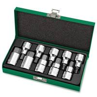 "TopTul 10pc Socket Set 1/2""Dr Hex Bits"
