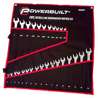 Powerbuilt 28pc Combination Combination Ring and Open End Spanner Set