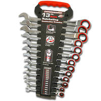 Powerbuilt Metric Ratchet Wrench Set 13pc