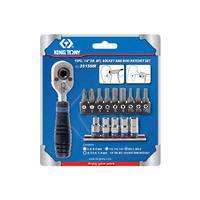 "King Tony 15pc 1/4""Dr Bit & Mini Ratchet Set"