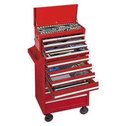 King Tony 320pc Tool Set In 6 Drawer Box & 7 Drawer Roll Cab