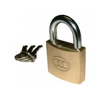 Tri-Circle Brass Padlock 50mm