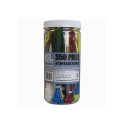 Coloured Cable Tie Pack 350pc