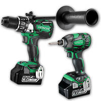 Hitachi 2pc 18V Brushless Drill & Impact Driver 6.0Ah Combo