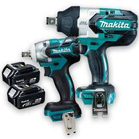 Makita 18v Brushless 2pc Impact Wrench Kit