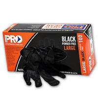ProChoice H/Duty Black Nitrile Disposable Gloves