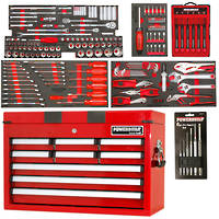 Powerbuilt 249pc Tool Chest, Roller Cabinet & Assorted Tools