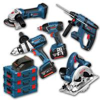 Bosch 5pc Cordless 18V Kit w\ 2x 6ah batteries