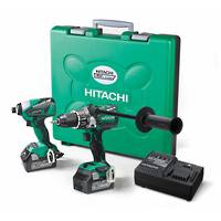Hitachi 18V Brushless Impact Drill & Impact Driver 6.0AH Kit
